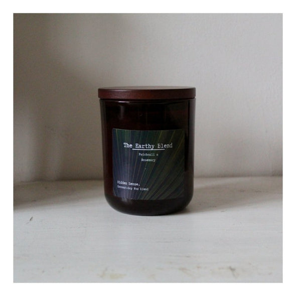 The Earthy Blend Essential Oil Quality Soy Candle, Large Glass Jar - EMPORIUM WORTHING