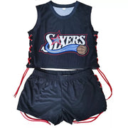 Jersey two piece shorts set