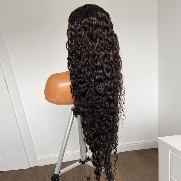Deep Curly Glueless Virgin Brazilian Closure Wig