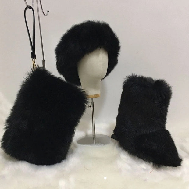 Outdoor winter faux boot SET