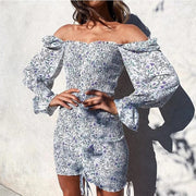Floral Draw string Dress