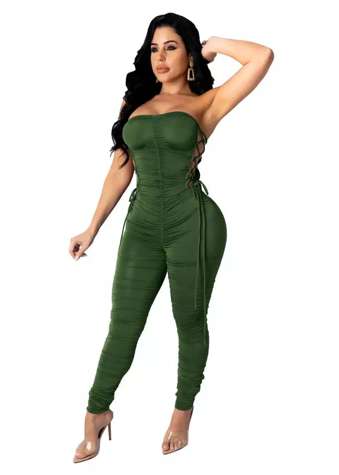 Bodycon overall jumpsuit