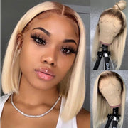 Short bob Lace front blond wig
