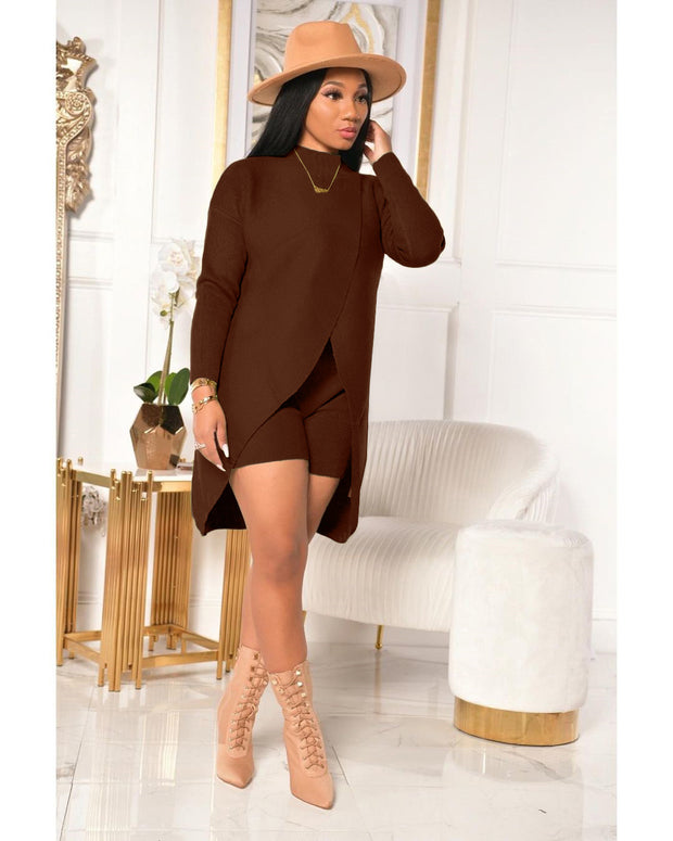 Cashmere two piece shorts SET