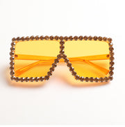 Rhinestone oversized sunglasses