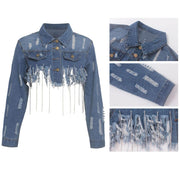 Ripped denim jeans Jacket