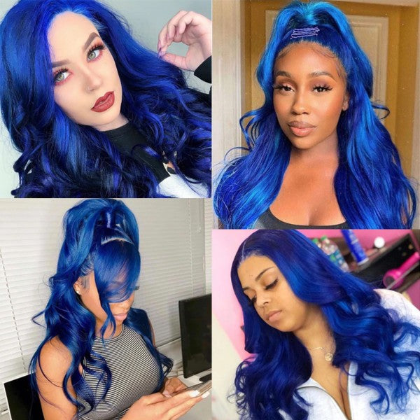 Body Wave Blue Lace wig