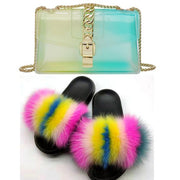 Jelly Chain Bag Slippers Set