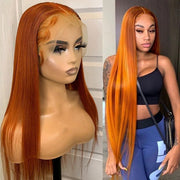 Ginger Orange Lace Front Human Hair Wig