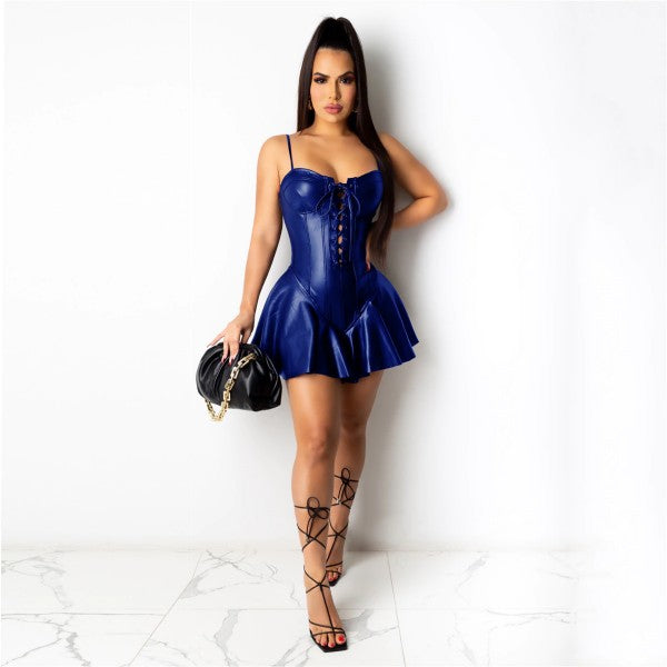Leather Clubwear Dress