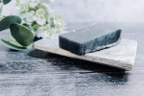 Citrus Charcoal Scrub Soap - rose + twig apothecary