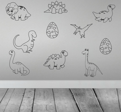 10 x Dinosaurs Matt Vinyl Wall Art Decals Snatcher Online Shopping South Africa