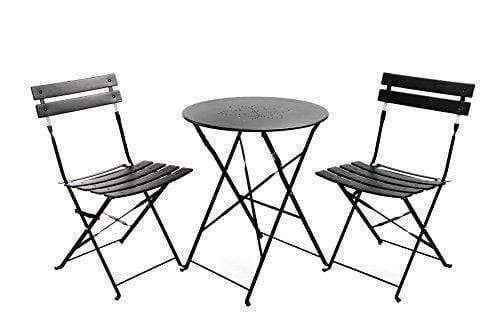3 Piece Bistro Metal Chairs And Table Mat dark anthracite Snatcher Online Shopping South Africa
