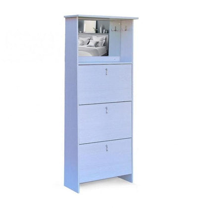 3 Tier Mirror Vanity Shoe Cabinet Maple Snatcher Online Shopping South Africa