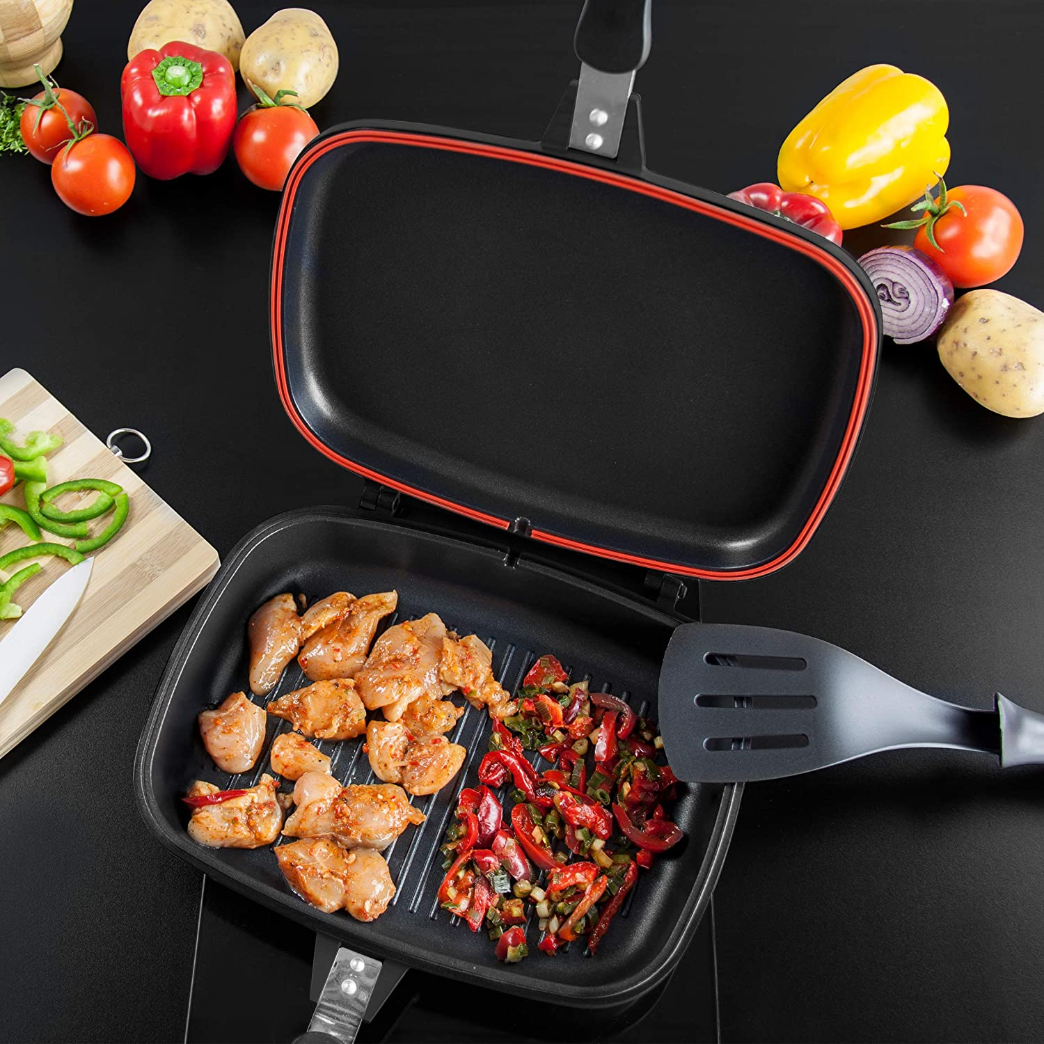 32cm Die Cast Double Grill Pan Snatcher Online Shopping South Africa