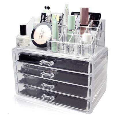4 Drawer Cosmetic Organizer With Lipstick/Brush Stand Snatcher Online Shopping South Africa