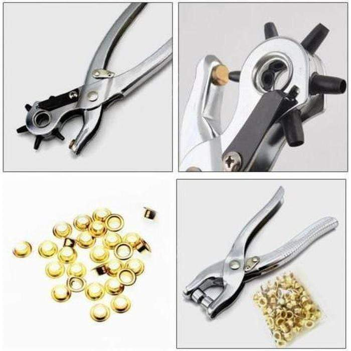 5 Piece- Leather Hole Punch & Grommet Setting Tool Kit Snatcher Online Shopping South Africa