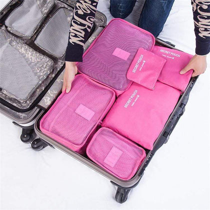 6 Piece Luggage Organizers Dark Pink Snatcher Online Shopping South Africa