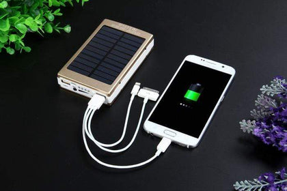 8000mAh Solar Power Bank With 20 LED Light Snatcher Online Shopping South Africa