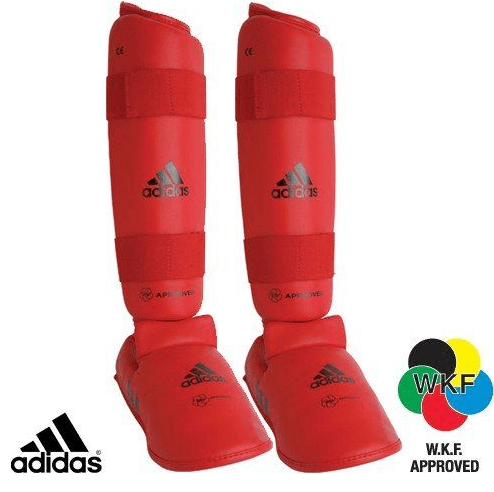 Adidas WKF Shin and Removable Instep Pads Small / Red Snatcher Online Shopping South Africa