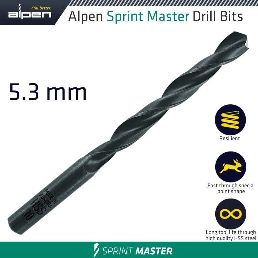Alpen Hss Sprint Master 5.3Mm X1 Sleeved Din338  Drill Bit Snatcher Online Shopping South Africa