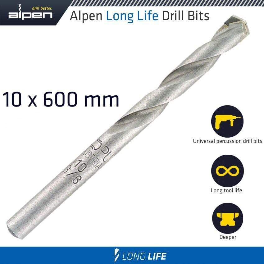 Alpen Masonry Drill Bit Long Life 10 X 600Mm Pouch Snatcher Online Shopping South Africa