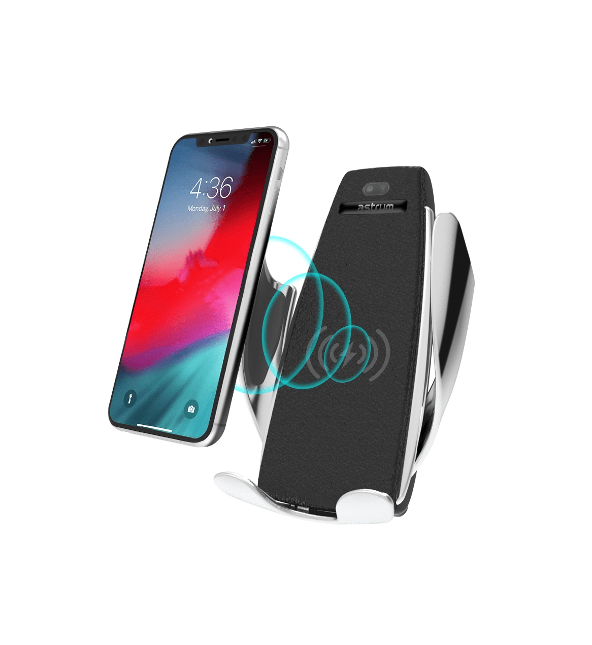 Astrum 10W Qi Wireless Charger + Car Mobile Holder  - CW270 Snatcher Online Shopping South Africa