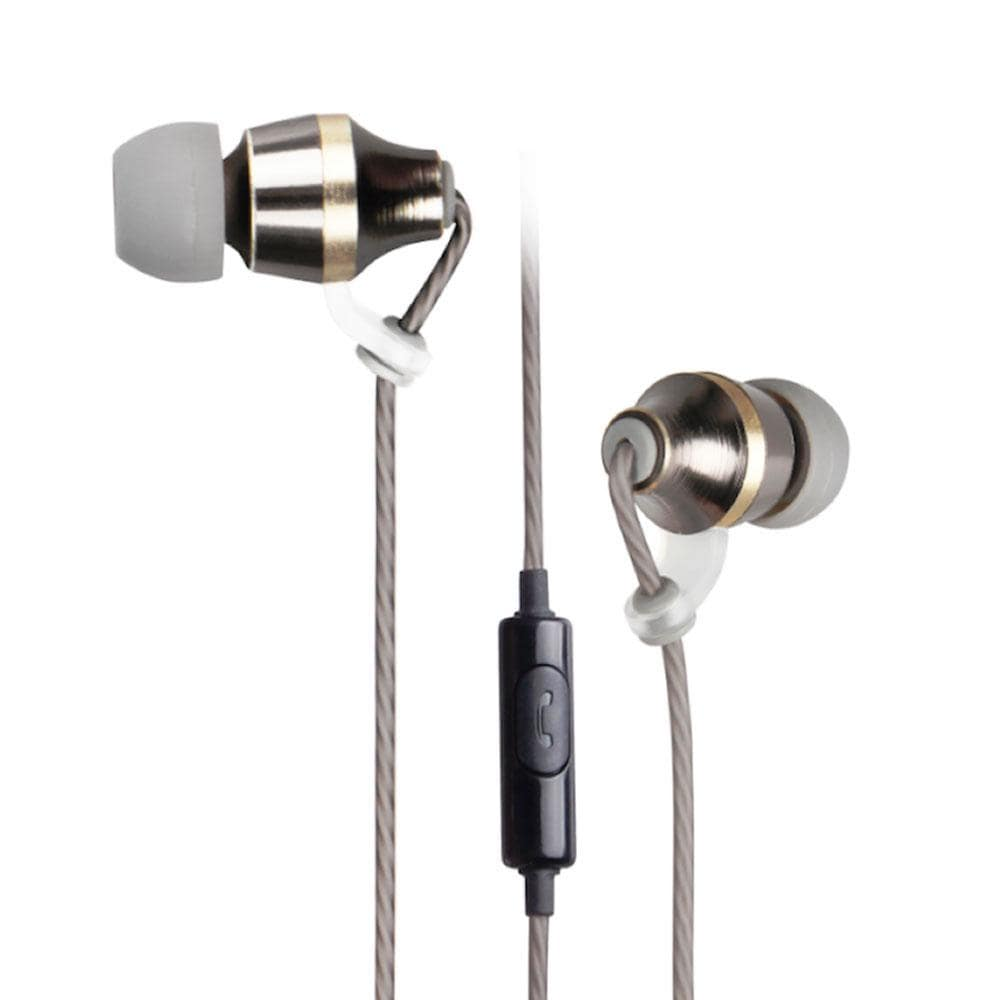 Astrum Metal Stereo Earphones + In-wire mic - EB400 Gold Snatcher Online Shopping South Africa