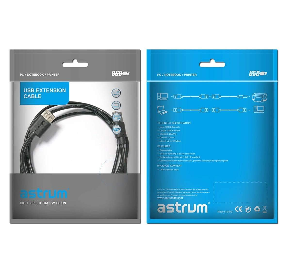 Astrum USB Extenstion Cable 1.8 Meter - UE201 Snatcher Online Shopping South Africa