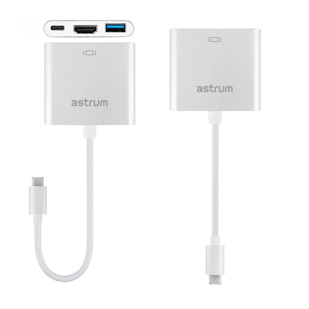 Astrum USB Type-C to HDMI + USB Type-C + Type-A USB Adapter - DA620 Snatcher Online Shopping South Africa