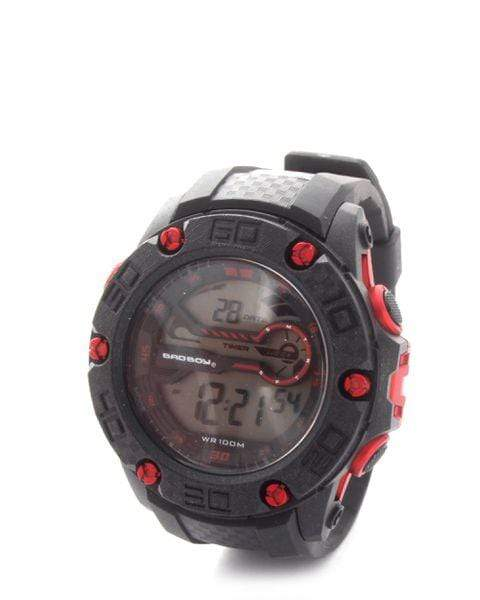 Bad Boy 100M-WR Digital Watch - Black & Red Snatcher Online Shopping South Africa