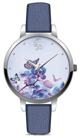 Bad Girl Flowerchild Analog Watch - Silver & Blue Snatcher Online Shopping South Africa