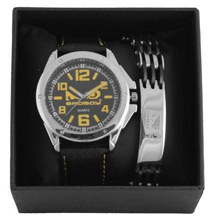 Black & Yellow Analog Watch & Jewel Set Snatcher Online Shopping South Africa