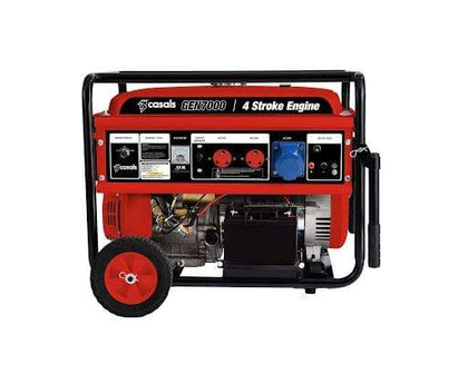 Casals Generator Electric / Recoil Start Steel Red Single Phase4 Stroke 5700W Snatcher Online Shopping South Africa