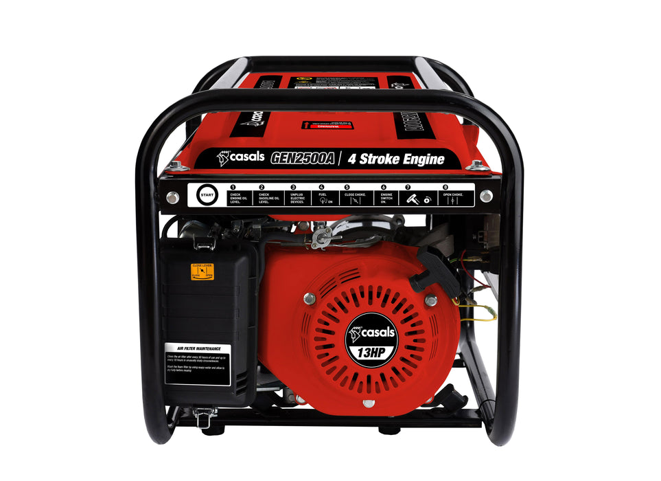 Casals Generator Recoil Start Steel Red Single Phase 4 Stroke 2000W Snatcher Online Shopping South Africa