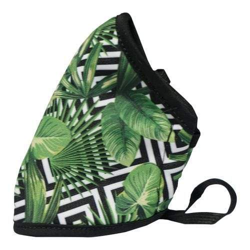 Clinic Gear - Anti-Microbial Printed Mask Ladies Green Leaves Snatcher Online Shopping South Africa