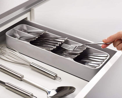 Compact Cutlery Organizer Grey Snatcher Online Shopping South Africa
