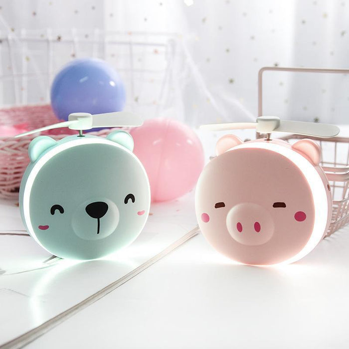 Cosmetic Pocket Mirror And Fan Pink Smiley Pig Snatcher Online Shopping South Africa