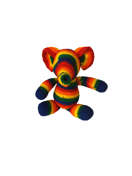 Crochet Multicolored Elephant Snatcher Online Shopping South Africa