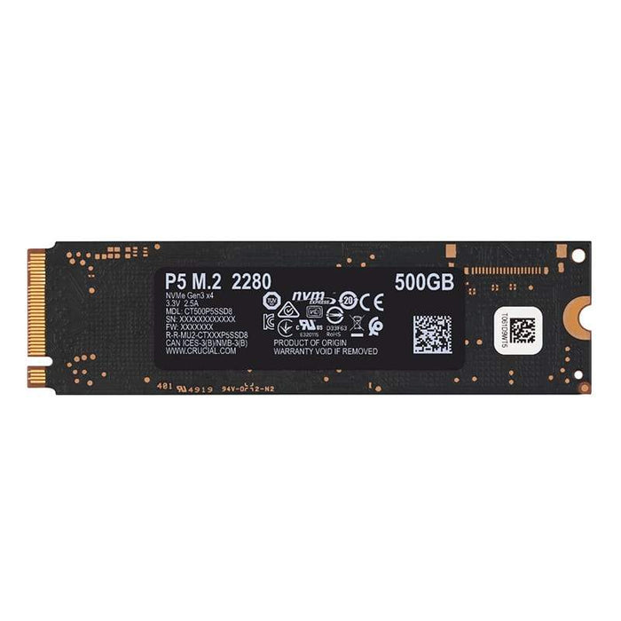CRUCIAL SSD P5 M.2 NVME 500GB Snatcher Online Shopping South Africa