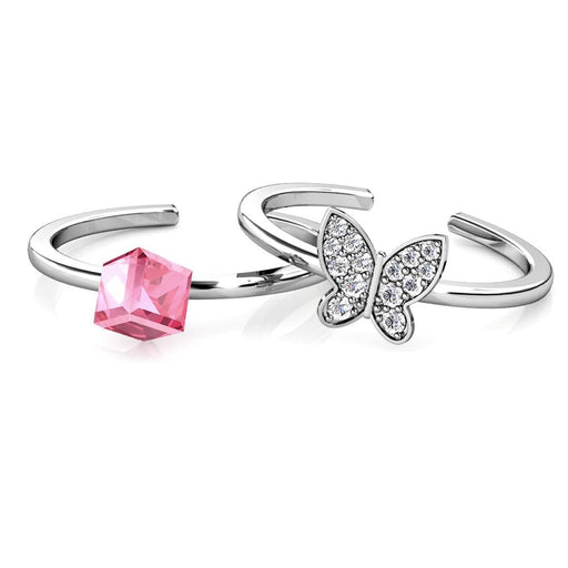 Destiny Butterfly Cube Ring With Crystals From Swarovski Snatcher Online Shopping South Africa