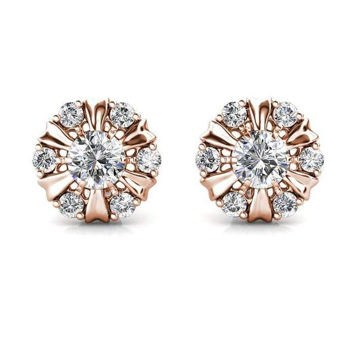 Destiny Sun Petal Earrings With Crystals From Swarovski - Rose gold Snatcher Online Shopping South Africa