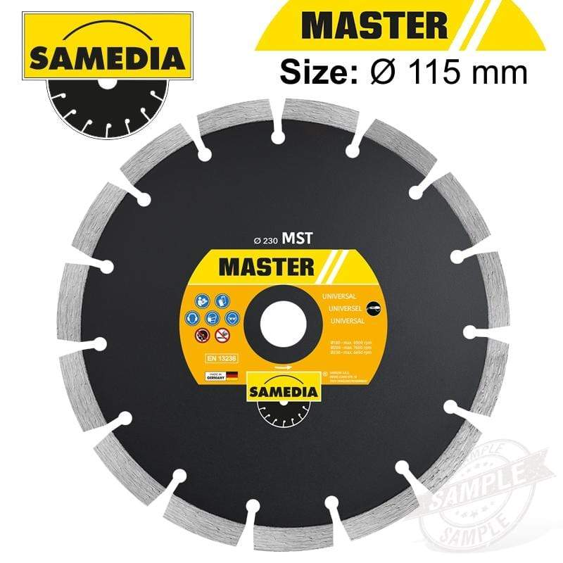 DIAMOND BLADE 115MM SEGMENTED IND MULTI PURPOSE MASTER MST Snatcher Online Shopping South Africa