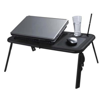 E-Table - Portable Laptop Desk With Cooler Fan Snatcher Online Shopping South Africa