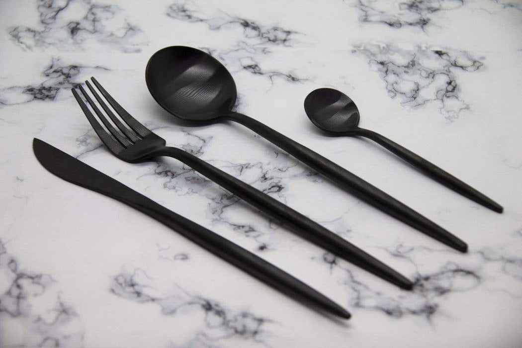 Finery - Cutlery Set 24 piece - Carbon Black Snatcher Online Shopping South Africa