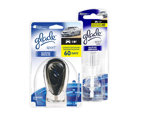Glade Sport Car Perfume Holder & Refill Bundle - Marine Breeze Snatcher Online Shopping South Africa