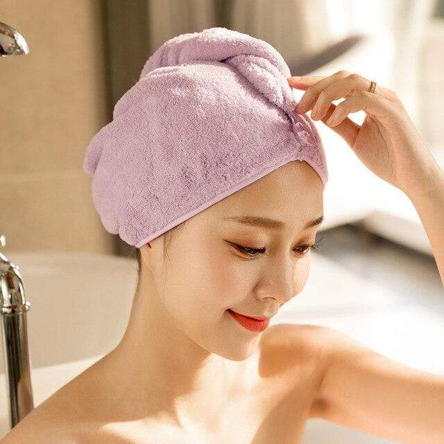 Hair Towel Wrap Purple Snatcher Online Shopping South Africa