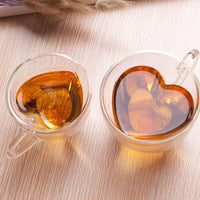 Heart Shaped Double Walled Insulated Glass - 2 Pack Snatcher Online Shopping South Africa