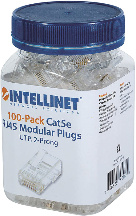 Intellinet 100-Pack Cat5e RJ45 Modular Plugs Pro Line Snatcher Online Shopping South Africa