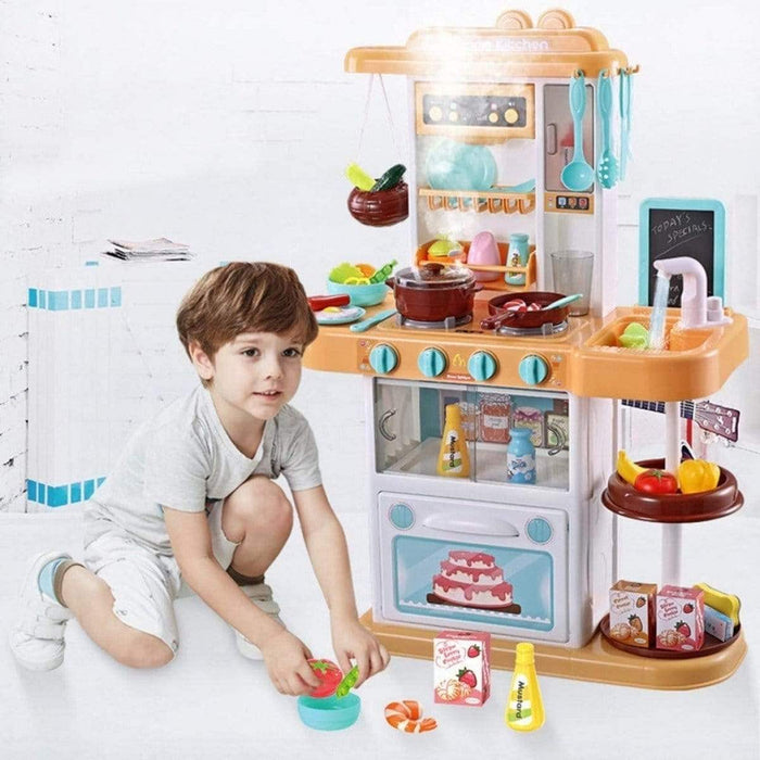 Jeronimo - 38 Pieces Kitchen Play Set Orange and Blue Snatcher Online Shopping South Africa